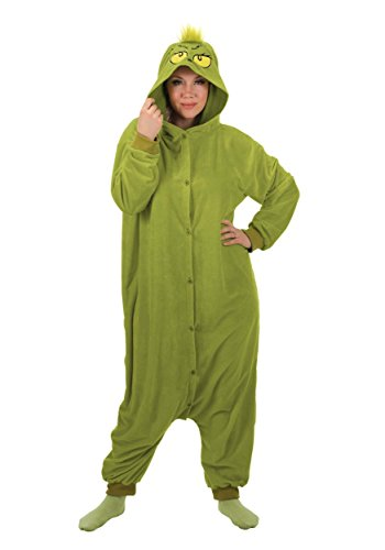 Dr. Seuss The Grinch Kigurumi Jumpsuit Sleepwear Costume Adult One Size