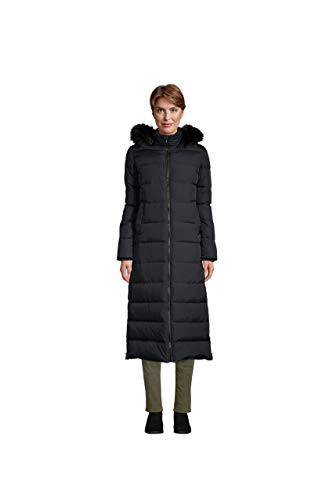 Lands' End WMS Maxi Down Coat Black Regular Small