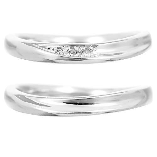 [ココカル]cococaru K10ゴールド ペアリング 2本セット 結婚指輪 マリッジリング ダイヤモンド 日本製(レディースサイズ4号 メンズサイズ14号)