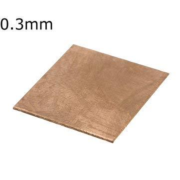 ExcLent 10Pcs 15X15Mm Cpu Kupferblech Laptop Kühlkörper 0.1/0.3/0.5/0.8/1.0Mm - 0,3 mm