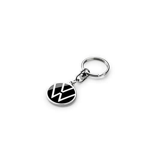 Volkswagen 000087010BR Schlüsselanhänger mit dem neuem VW Logo, Durchmesser 30mm, Schwarz, 30 mm