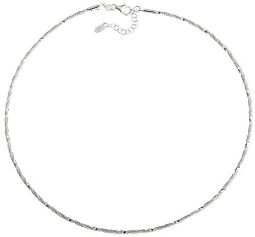 Fashion Omega Halsreifen 2mm - Länge 40cm - echt 925 Silber