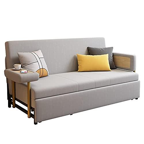 HMBB 77.2'Sofá Cama - Sofá Convertible Moderno tapizado Sofá Sofá Cama, Pierna de Metal, Cojín de Espuma de Memoria Muebles de Sala de Estar Reclinador for el hogar, Beige, Verde (Color : Beige)