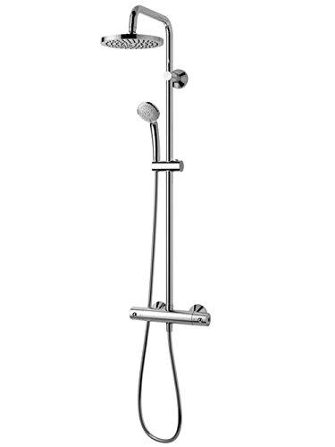 Ideal Standard Duschsystem IDEALRAIN S A6037AA mit Aufputz- Brause Thermostat 100 G1/2 verchromt