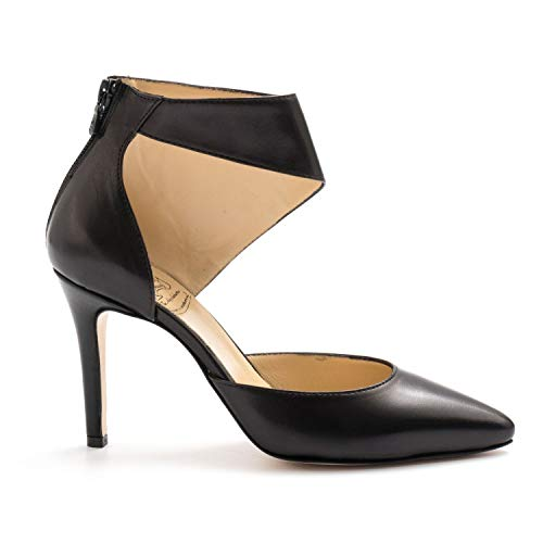 L'ARIANNA Black Leather L'Arianna Shoes with High Heels DE 1150SIVIGLIA Nero 39