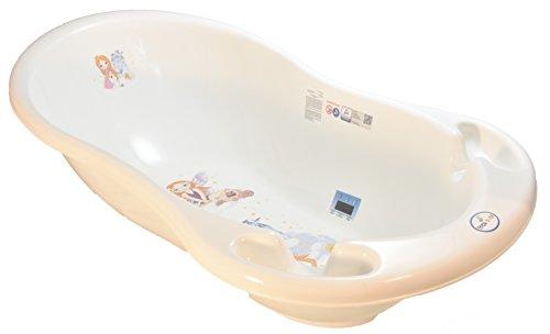 Tega Baby Badewanne für Neugeborene, 86cm, Prinzessinnen-Motiv, klein, Pink / Weiß, inkl. Thermometer