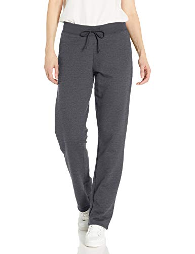 Fruit of the Loom Women s Essentials French Terry Pants and Tri-Blend Tees, Open Bottom-Charcoal Heather, Large