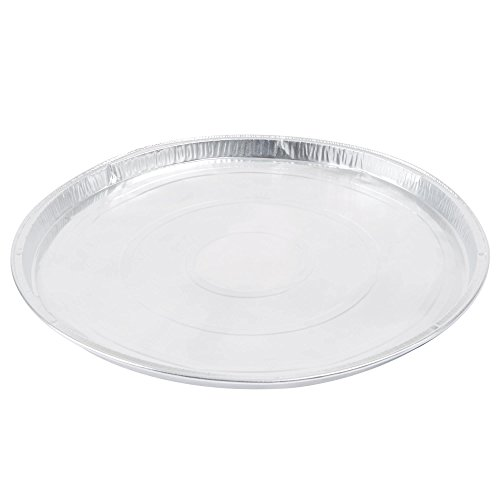 """15-Pack, 11-Inch Round Flat Aluminum Foil Pan for Pizza, Large Cookie, or Pancakes 11"""" x 11"""" x .27"""""""