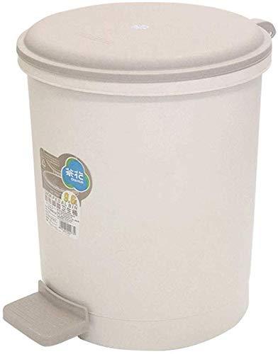 WYJW Ronde plastic vuilnisbak met pedaal, vuilnisbak (kleur: grijs-blauw)