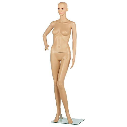 Yaheetech Full Female Mannequin Slapped Dressmaker Dummy Adjustable Detachable 68.9in Height with Base