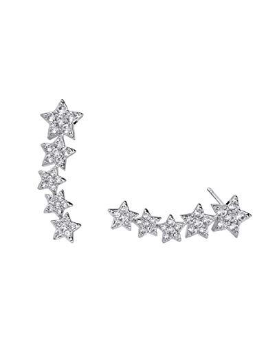 VIDAL & VIDAL Pendientes trepadores de estrellas con Circonitas