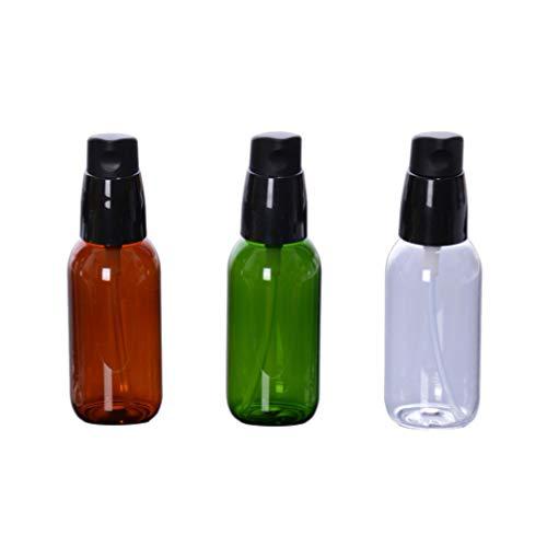 TOPBATHY Kosmetikflaschen, luftlose Pumpe, steril, tragbar, für Reisen, Ausflüge, 50 ml, 3 Stück