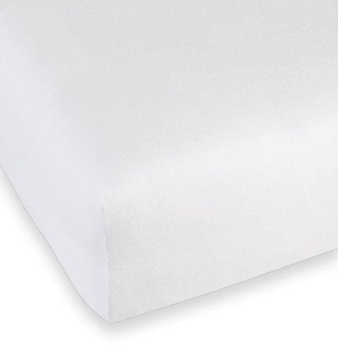 Biberna 808421 Stretchmolton spanmat, conform Öko-Tex Standard 100, ca. 160 x 190 cm tot 190 x 210 cm, wit.