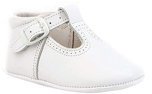 Patucos Pepitos para Bebé Todo Piel, mod.247. Calzado infantil Made in Spain, Garantia de calidad. (19, Blanco)
