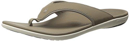 Spenco Men's Yumi Flip Flop Sandal, Walnut,  10 Medium US