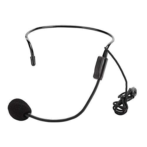 Redxiao Headset-Mikrofon Kabelgebundenes Kopfmikrofon Rauschunterdrückung Einwegrichtung Klarer Ton für die Vorlesung zum Unterrichten