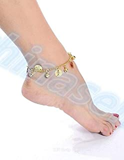 Cheap - 200pairs belly dance coin anklet Indian Gypsy dance Ankle chain Latin dancing anklets foot ornaments Dance clothin...