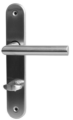 Alpertec 32854043 Edelstahl Martina-LS für Badtüren WC Drückergarnitur Türdrücker Türbeschläge Neu, für Badezimmertüren