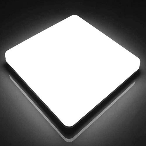 LED Lámpara de Techo Cuadrada Ketom 48W, Plafón Led Cuadrado Ultra Delgado 48W Blanco Frío 6500K Impermeable IP44, Luz de Techo Cuadrado 4320LM Para Baño Cocina Sala de Estar Dormitorio Pasillo Balcón