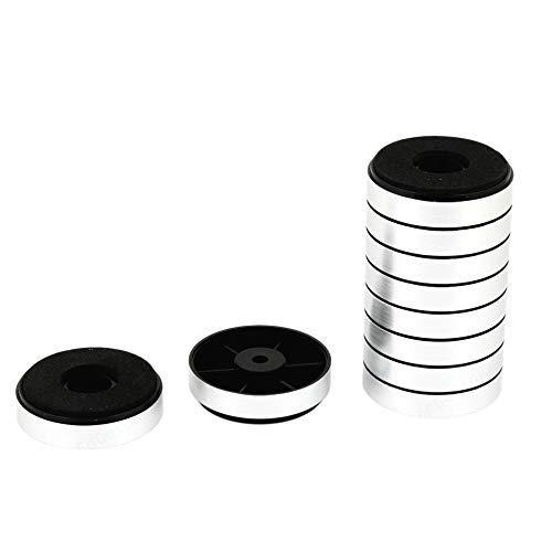 Wuyee 10PCS Silver Round Pad Amplificador de Audio Pies Soporte Soportes para...