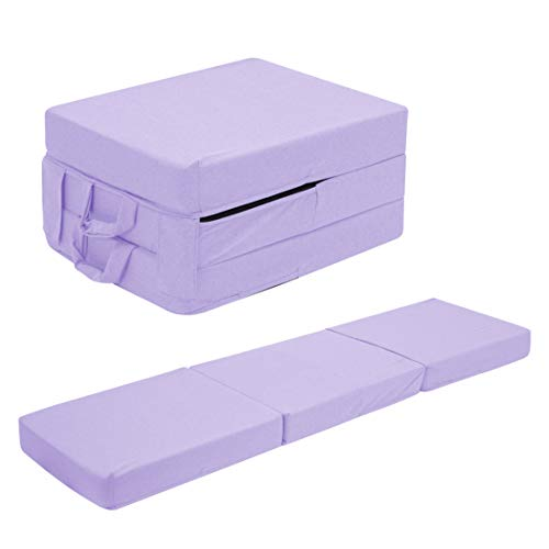 UTZ Fold Out Foam Guest Z Bed Single Chair Folding Mattress Sofabed Futon Chairbed Z Bed Lilac
