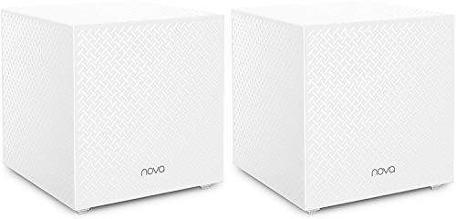 Tenda Sistema Nova Mesh MW12 - Router WiFi para Todo el Hogar (Paquete 2, Mu-Mimo, Seamless Roaming, Fast Ethernet, Control Parental, Funciona con Alexa
