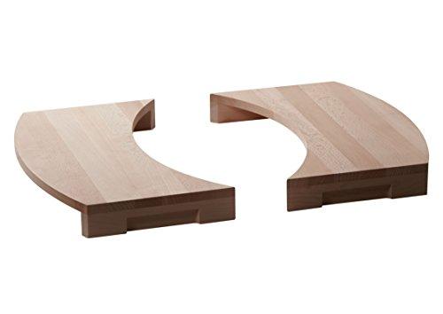 Buschbeck Grill Zubehör, Holzauflage 2er-Set für Grillkamin Magic, buchenholz, 24 x 47 x 6 cm, 90129.000