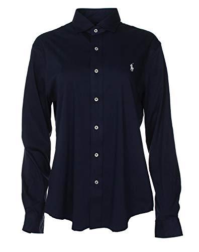 Ralph Lauren Knit Dress Shirt blouse hemd - Navy/Roze/Wit