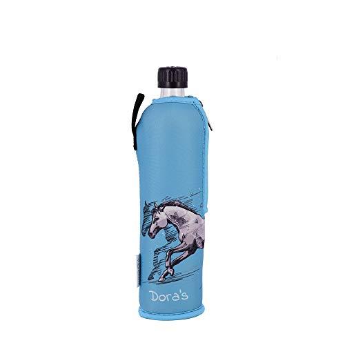 Biodora Doras Glasflasche mit Neoprenbezug 500 ml Verschiedene Farben