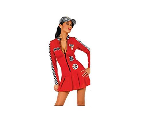 GGT Boutique Lange mouwen Grid Meisje Racing Jurk met Hoed Fancy Jurk Halloween Kostuum