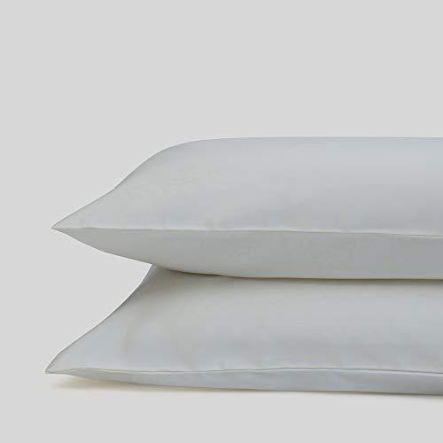 Fabdreams 100prozent Bio-Baumwolle King Kissenbezug Set   Cal Elfenbeinfarben 50,8 x 101,6 cm Satingewebe Fadenzahl 400 GOTS zertifiziert weich seidig glänzend luxuriöse Oberfläche nachhaltig