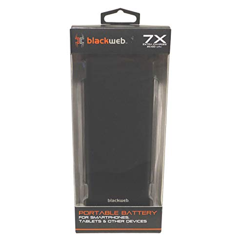 Blackweb Standby Quick Charge 20k Power Bank, Black - with Micro USB Charging Cable 1ft