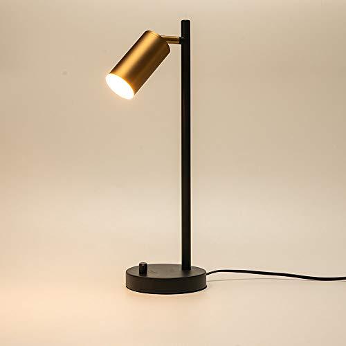 Lámpara de mesa de dormitorio de latón postmoderna Lámpara de escritorio LED de estudio Lámpara de lectura orientable GU10 Lámpara de oficina Iluminación para la casa Negocios de decoración