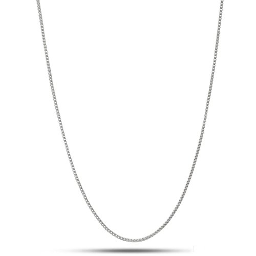 """NYC Sterling Unisex Solid Italian 1.5mm Box Chain in Sterling Silver (22"""")"""