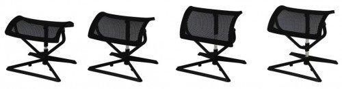 FineBuy Fußauflage Ottomann Design Beinauflage Stoffbezug/Mesh für Büro Fußablage höhenverstellbar Beinablage Schreibtisch Fußstütze verstellbar Hocker