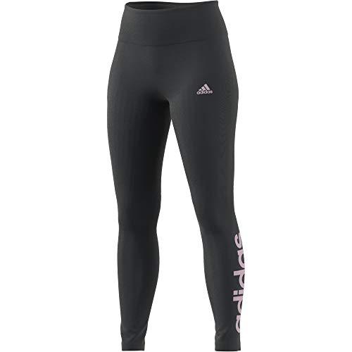 adidas Damen Essentials Linear Leggings, Dgh Solid Grau/Hellrosa, XS EU