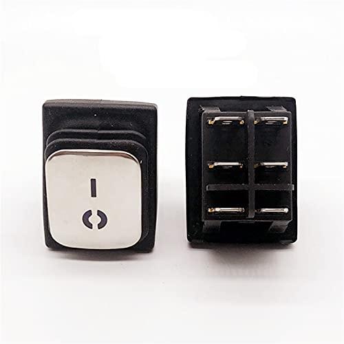Basculante Interruptor KCD4 Acero inoxidable Interruptor de rockero impermeable On-off4 / 6Pin Interruptor de equipo eléctrico con fuente de alimentación LED 16A 250V / 20A 125VACKCD4 Interruptor de r