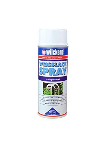Weisslack Spray hochglänzend 400 ml Innen & Außen Wilckens ca. 2 m² Spraylack Lack