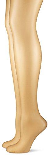 Hudson Damen Strumpfhose Simply Shine 15 021644, 2er Pack, Hautfarben (Skin 0014), Gr. 44/46