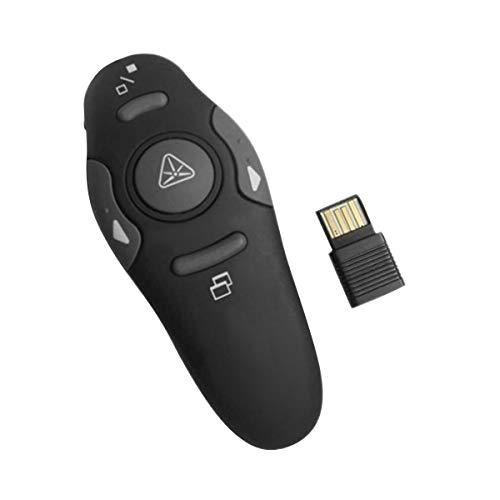 Nosii Wireless Presenter Fernbedienung PPT Controller Flip Pen für Präsentations-Laserpointer USB-Clicker