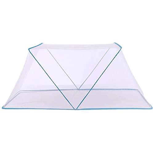 mosquitero Mosquitera Plegable portátil, mosquitera Plegable giratoria Individual, mosquitera para Dormitorio de Estudiantes (Color : Blue, Size : Small)