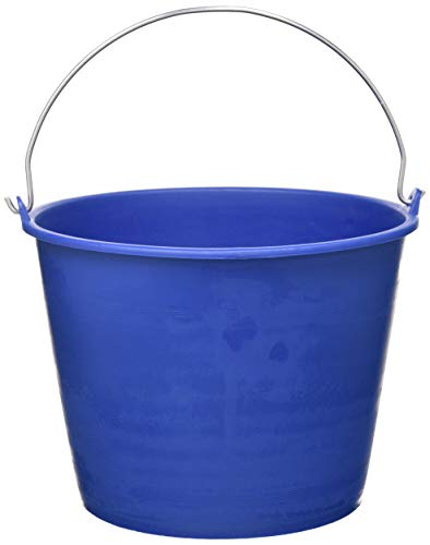 PACK de 2 cubos engomados de plástico reciclado (Azul) (6 litros)