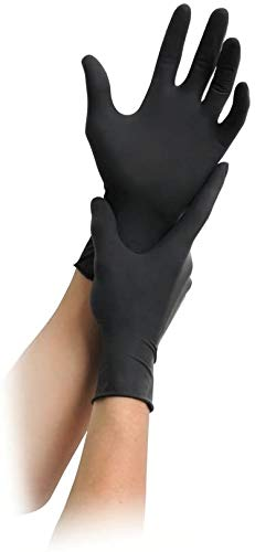 MaiMed Nitril Black Einmal-Handschuhe puderfrei, schwarz, 100 St, M