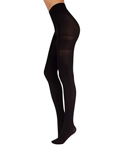 CALZITALY Anti-Cellulite Damen Strumpfhose | S, M, L, XL | 70 Den | Schwarsz, Beige | Italian Hosiery (Schwarz, M)