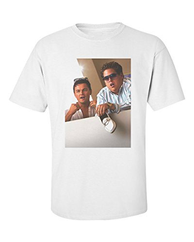 Uptown Classics Wolf of Wall Street Shoe Dicaprio White Crew Neck Tee T-Shirt - Medium