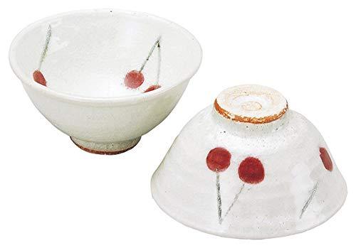 日本陶彩 巌陶房 飯碗 さくらんぼ 白 M-50463500