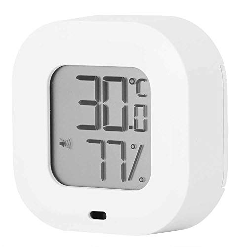 Toasses Smart Thermometer Hygrometer for Bluetooth Indoor Temperature Humidity Monitor for Home Garage Greenhouse(White)