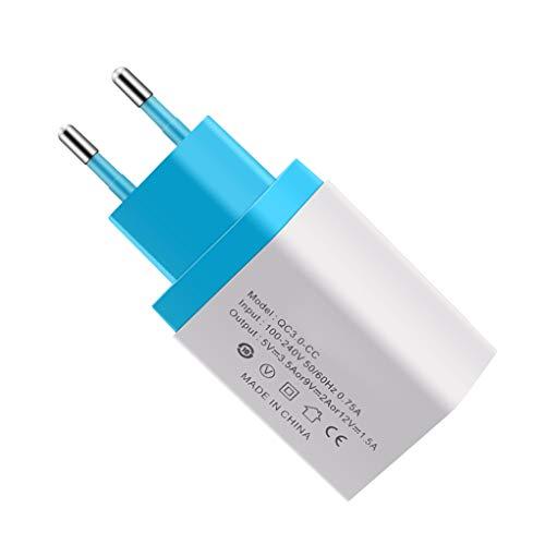 Universal Mobile Phone Schnelllade 3.0 USB-EU-Handy-Schnellstecker Ladegerät Raum-Wand-Schnellladeadapter Ersatz für Samsung/Tablets