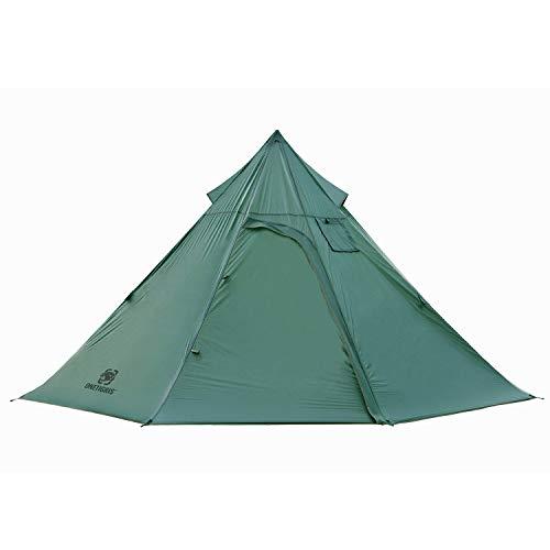 Black Orca 軽量テント インナー取り外し可 ワンポール テント 簡単設営 防水 キャンプ用 (グリーン)