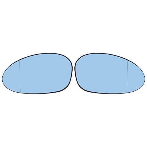 Doo Engy Cristal de espejo para retrovisor izquierdo y derecho E82, E87, Serie 3 E90, E91, E92, E46, cristal azul